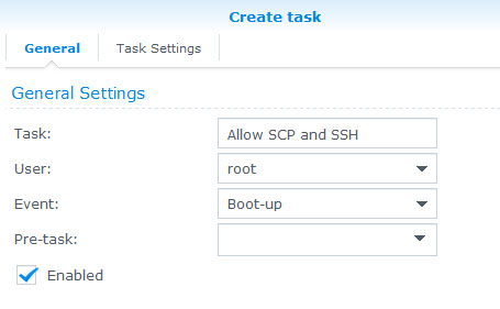 Howto: (re-)Enable SCP/SSH Login on Synology DSM 6 0 for non